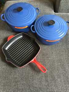 Le Creuset Cast Iron Kitchen Cookware Collection - Brand New