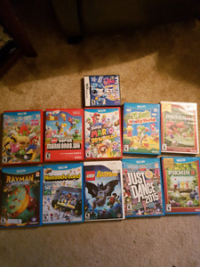 Wii and WiiU games and Nintendo DSI with game