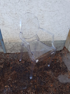 Two Clear Ghost Chairs - NEW