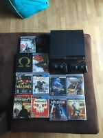 PS3 Slim 250gb w/ 2 controllers, HDMI and 12 games