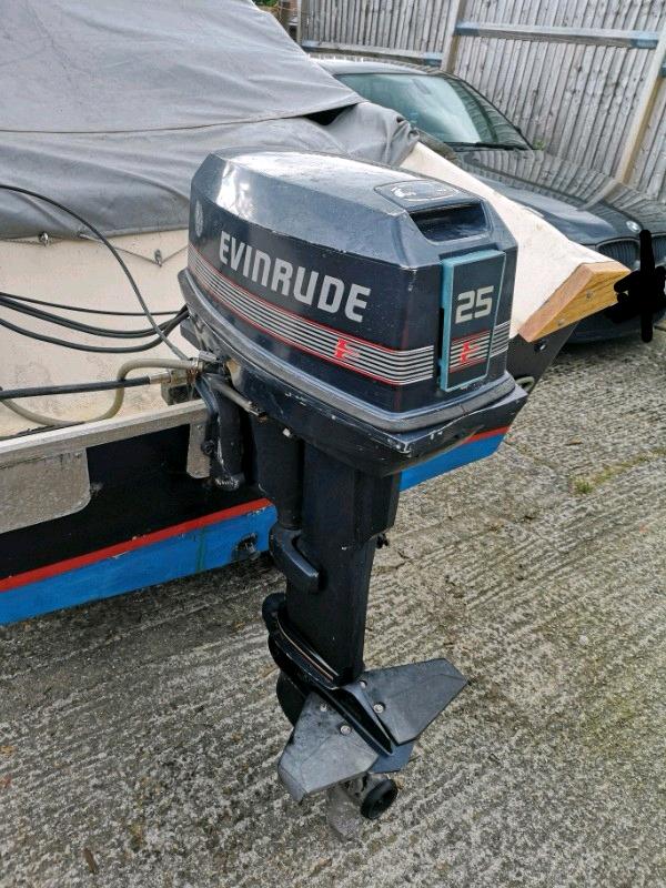Evinrude 25 Hp >> Evinrude 25hp Outboard In Poole Dorset Gumtree