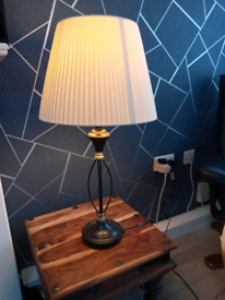 Large table lamp black and gold