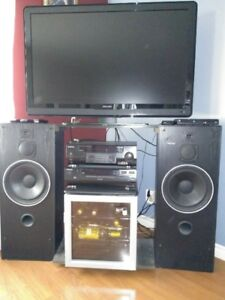 Entertainment Centre - Speakers - TV stand - (custom made)