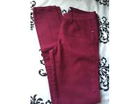Brick red jeans
