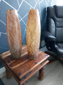 Glass designed vases a pair of