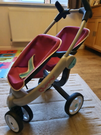 Stroller pushchair play Quinny twin doll