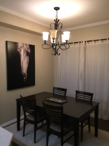 Dining Room Table (Crate and Barrel) and Chairs (Urban Barn) - $