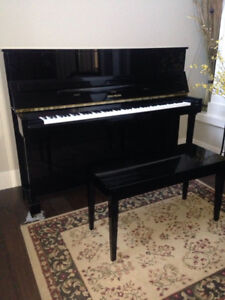 """2009 Yamaha Cable Nelson CN116, 45"""" Upright piano original owner"""