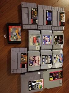 Lot varié de jeux vidéo - NES, Super Nintendo, N64, Wii, PS1