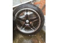 4 ALLOY WHEELS 19INCH GOOD CONDITION