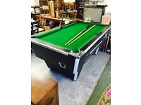 Pub Slate Pool Table, Coin operated, Good Condition