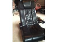 X rocker black gaming chair, play station Xbox etc