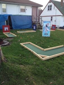 Portable 9 hole mini putt for rent is now themed North Bay Ontario image 1