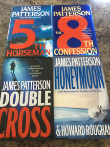 James Patterson Hard Cover Books,4/12.00