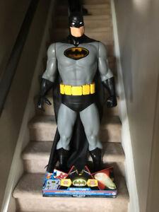 BATMAN 4 FEET TALL jakks light up chest $150.00 new