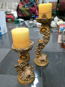 Beautiful Candle holders with candles
