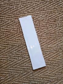 Rectangular white ceramic tiles 7.5 x 30cm