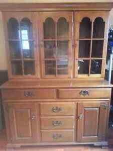 Maple China cabinet for sale