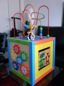 Wooden Activity Cube Center