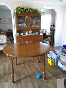 Solid Maple Buffet,  table, 4 chairs