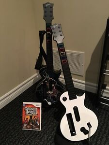 Wireless Guitars for Wii Guitar Hero with stand and game