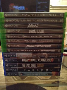 Xbox one / Ps4 Games for sale