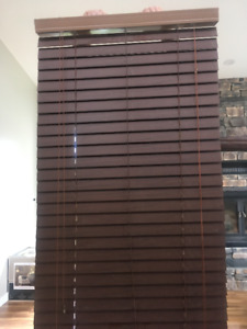 "Faux Wood Venetian Blind. 28""Wx77""H"