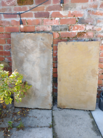 2 X Large Old Yorkshire Stone Hearths