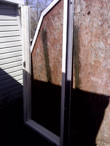 Commercial steel door with door frame