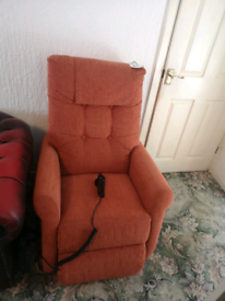 Fully Working Like New Electric Fabric Recliner
