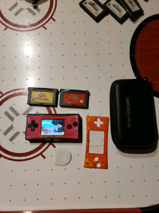 Gameboy micro case,charger n games