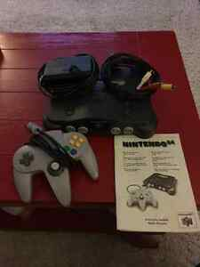 N64 console / controller / instruction booklet