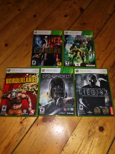 5 xbox 360 games for $20
