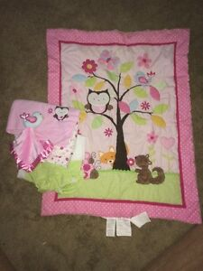 Euc owl crib set