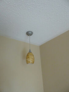 Pendant light with glass shade