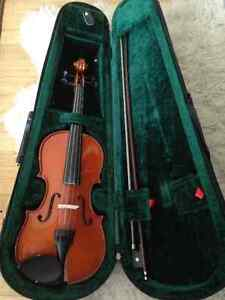 Half size violin with bow and case