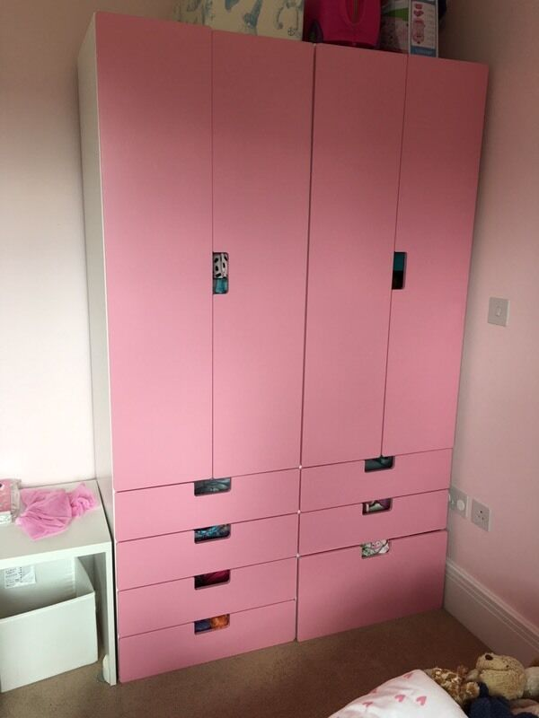 ikea stuva kids wardrobe in fetcham surrey gumtree. Black Bedroom Furniture Sets. Home Design Ideas