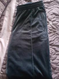 Adidas velour track pants unisex xl 90s