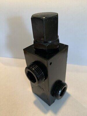 Hydraulic Pressure Relief Valve 34 Npt Ports 20 Gallon Max 2500 Psi Max