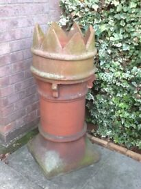 Antique terracotta chimney pot