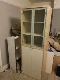 Glass/wood cabinet