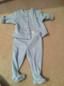 Reversible baby outfit - newborn - blue