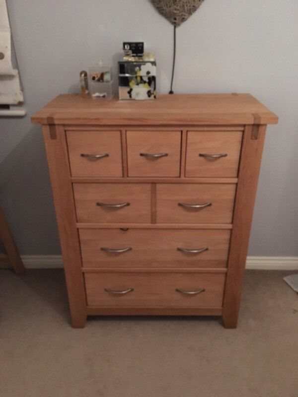Next Clarendon Drawers, Bedside tables and mirror
