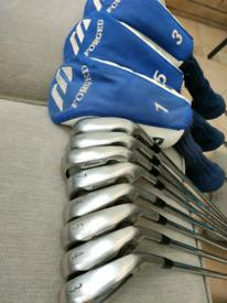 Set of Mizuno MX-15 T-Zoid golf clubs (3-PW & 1,3,5 Wood)
