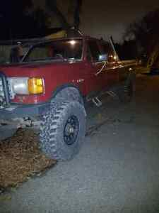 Lifted 90  f350 crew cab long box
