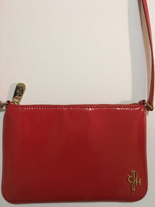 Authentic Cole Haan patent red leather purse