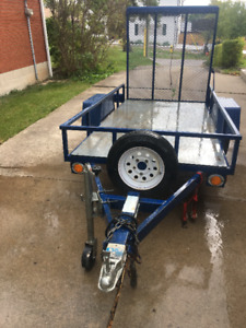 """LIKE NEW"" Utility Trailer 4 ft 2  BY 8ft 2"