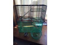 Gerbil cage +accessories
