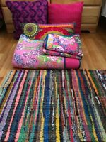 Colorful Bedspread & Pillows