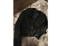 Asos leather coat size 8
